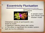 eccentricity fluctuation