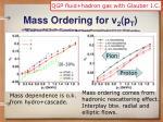 mass ordering for v 2 p t