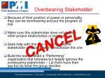 overbearing stakeholder1
