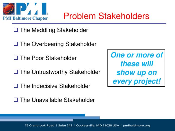 Problem Stakeholders