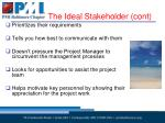the ideal stakeholder cont