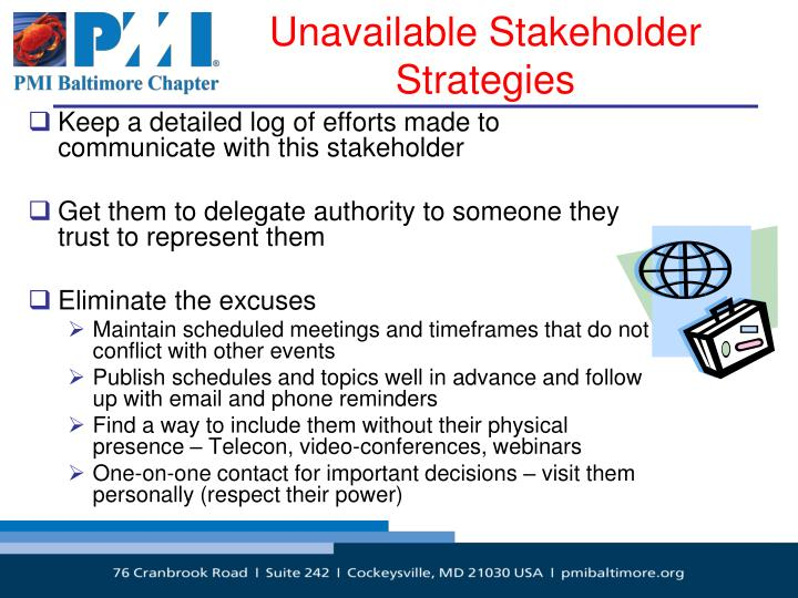 Unavailable Stakeholder Strategies