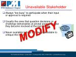unavailable stakeholder1