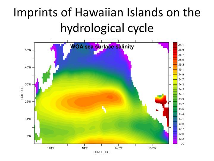 Imprints of Hawaiian Islands on the