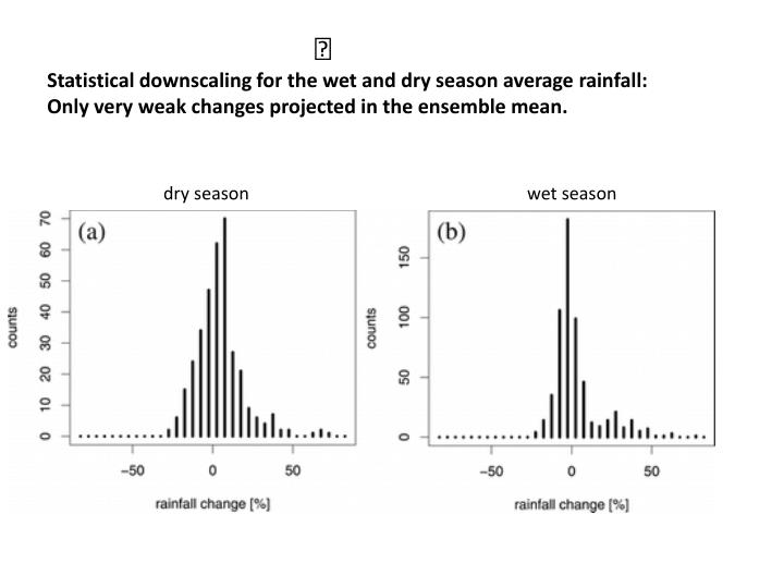 Statistical downscaling for the wet and dry season average rainfall: