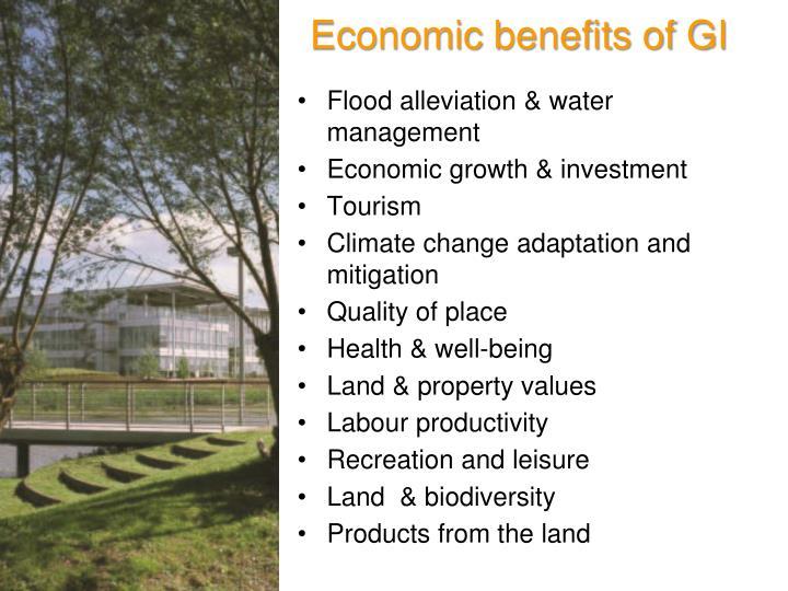 Economic benefits of GI