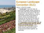 european landscape convention elc