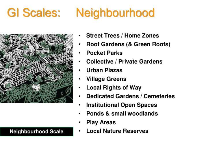 GI Scales:   Neighbourhood