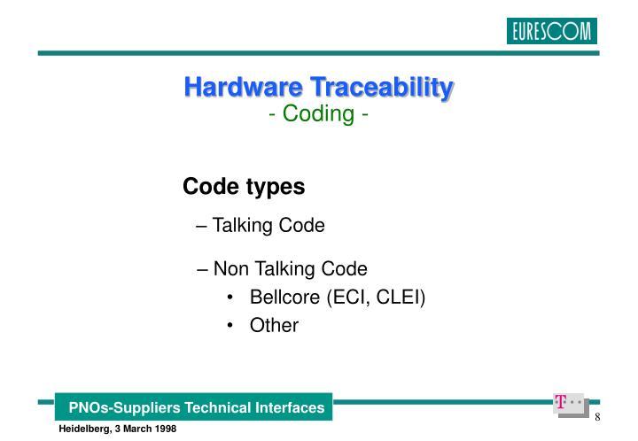 Code types