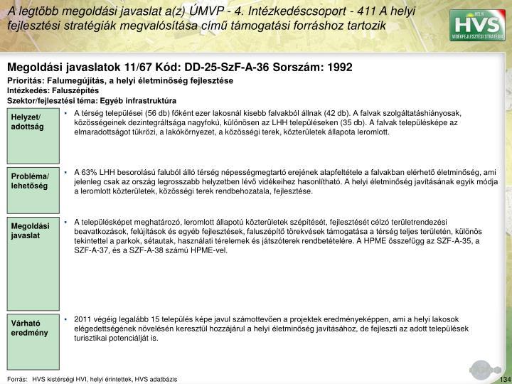 Megoldási javaslatok 11/67 Kód: DD-25-SzF-A-36 Sorszám: 1992