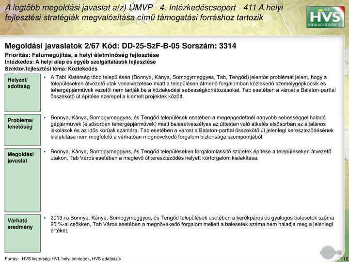 Megoldási javaslatok 2/67 Kód: DD-25-SzF-B-05 Sorszám: 3314