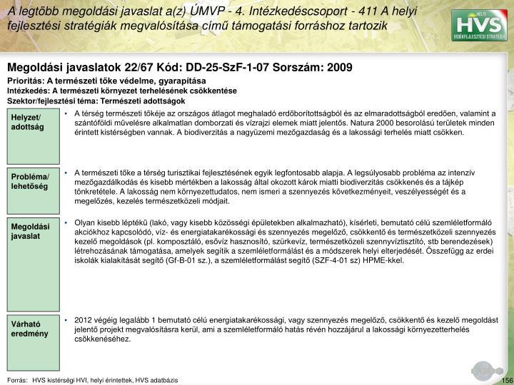 Megoldási javaslatok 22/67 Kód: DD-25-SzF-1-07 Sorszám: 2009