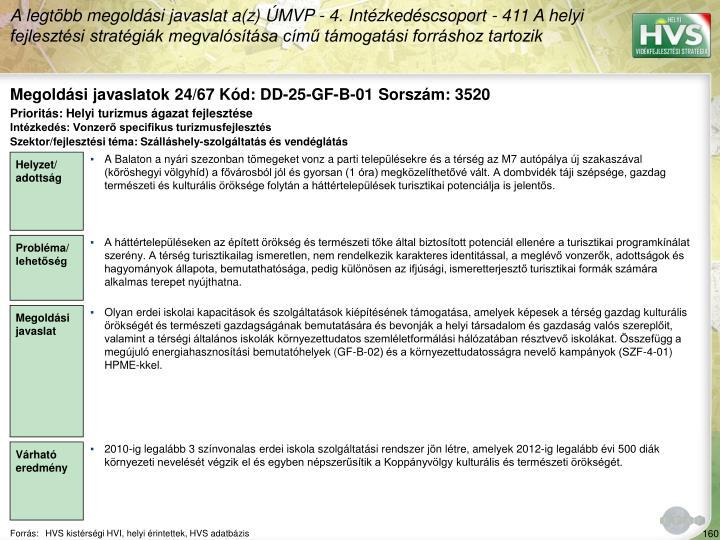 Megoldási javaslatok 24/67 Kód: DD-25-GF-B-01 Sorszám: 3520
