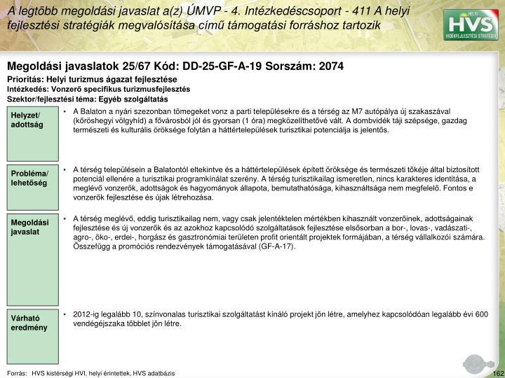 Megoldási javaslatok 25/67 Kód: DD-25-GF-A-19 Sorszám: 2074