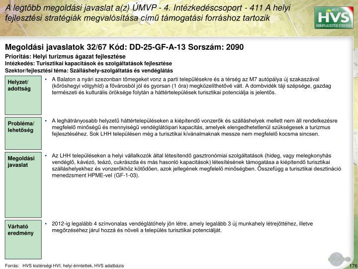 Megoldási javaslatok 32/67 Kód: DD-25-GF-A-13 Sorszám: 2090