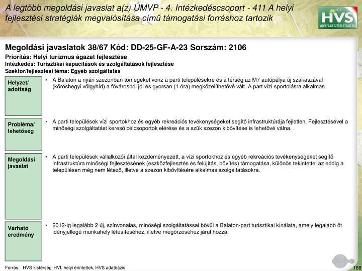 Megoldási javaslatok 38/67 Kód: DD-25-GF-A-23 Sorszám: 2106