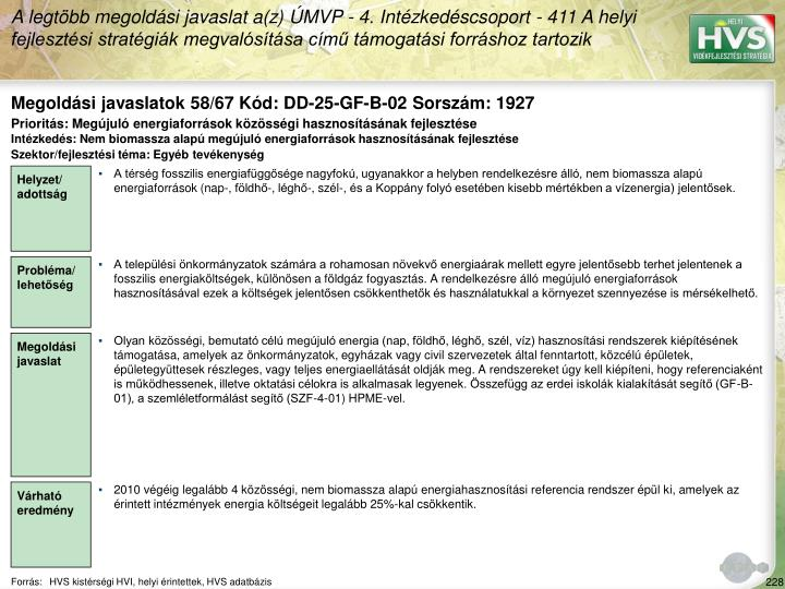 Megoldási javaslatok 58/67 Kód: DD-25-GF-B-02 Sorszám: 1927