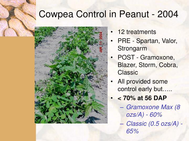 Cowpea Control in Peanut - 2004