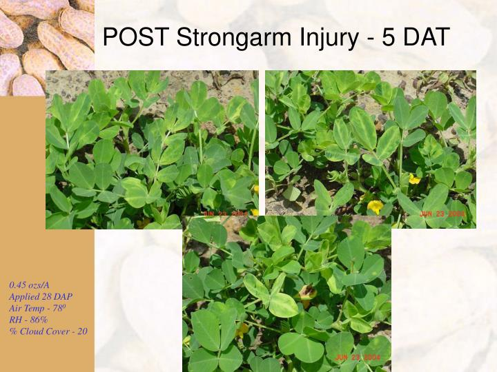 POST Strongarm Injury - 5 DAT