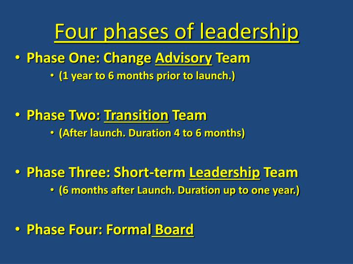 Four phases of leadership