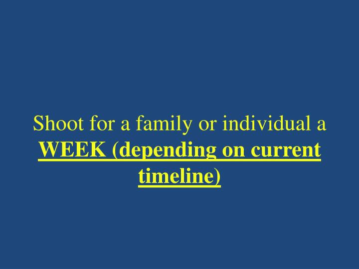 Shoot for a family or individual a