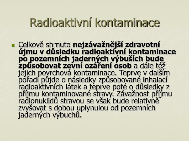 Radioaktivní kontaminace