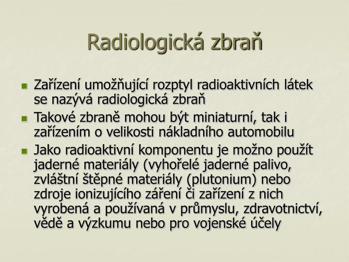 Radiologická zbraň