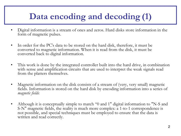 Data encoding and decoding
