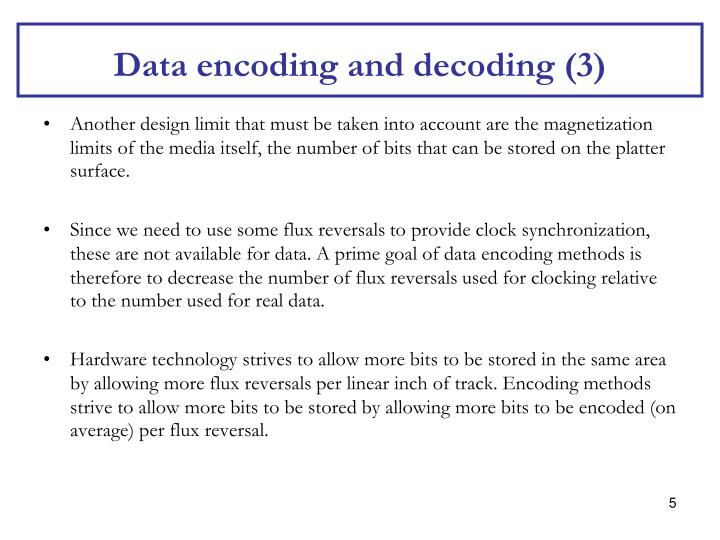 Data encoding and decoding (3)