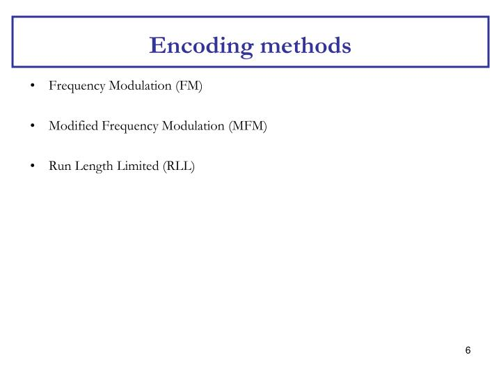 Encoding methods