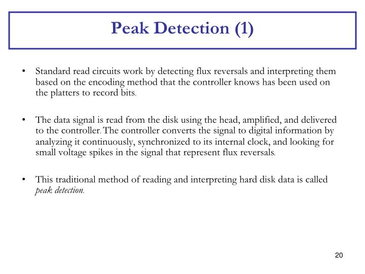Peak Detection (1)