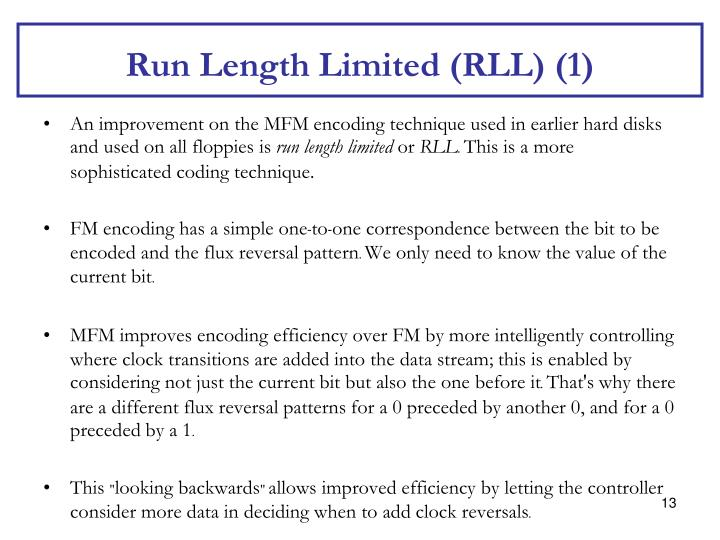 Run Length Limited (RLL) (1)