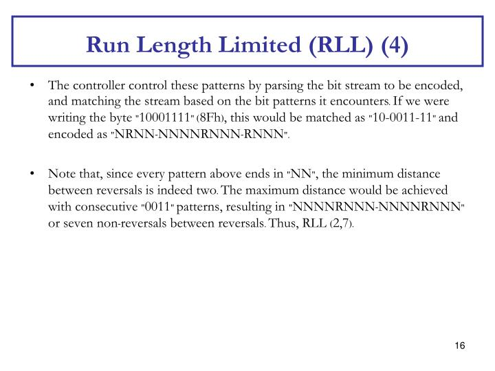 Run Length Limited (RLL) (4)