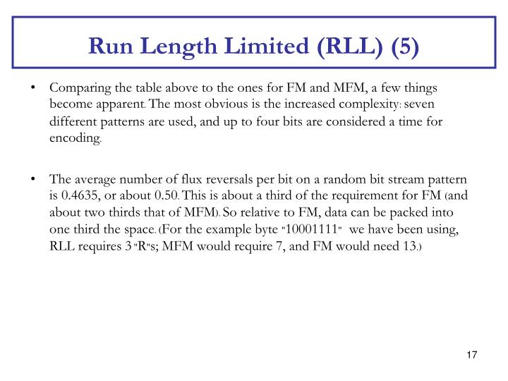 Run Length Limited (RLL) (5)