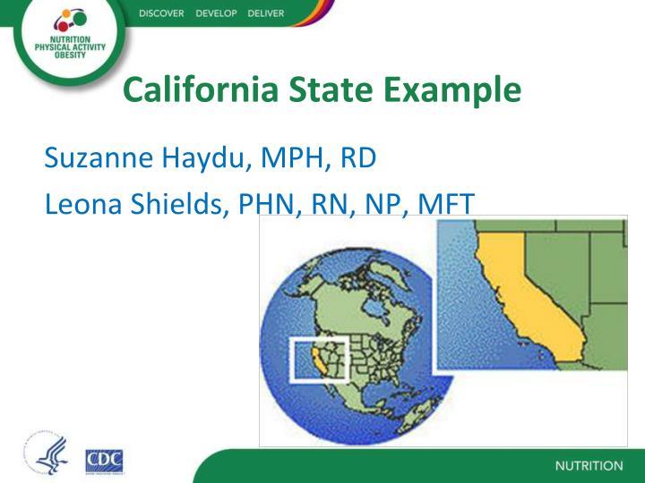 California State Example