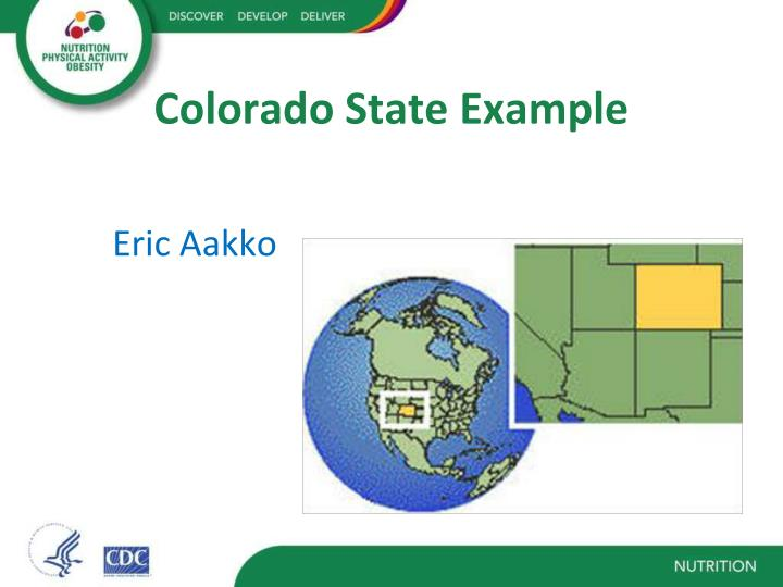 Colorado State Example