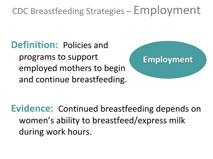 CDC Breastfeeding Strategies –