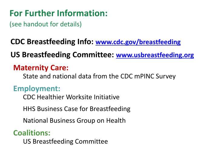 CDC Breastfeeding Info: