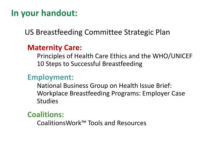 US Breastfeeding Committee Strategic Plan