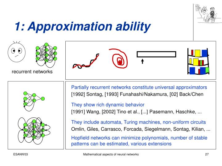 1: Approximation ability