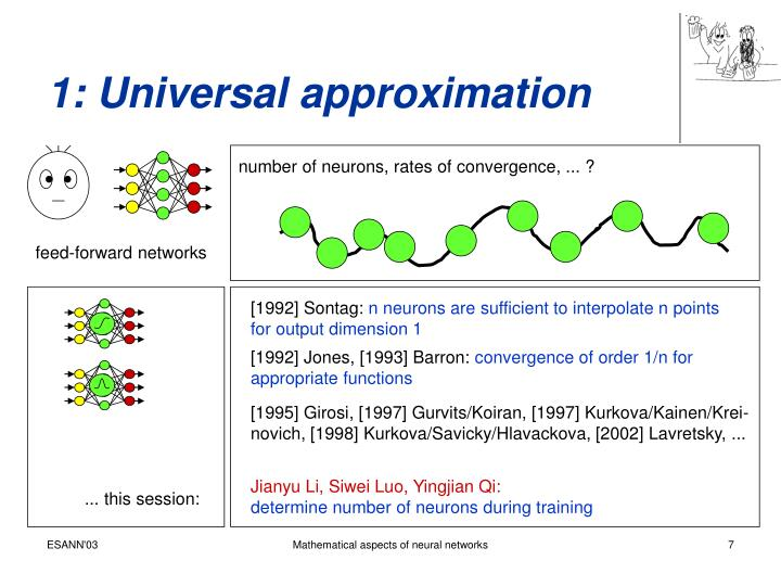 1: Universal approximation