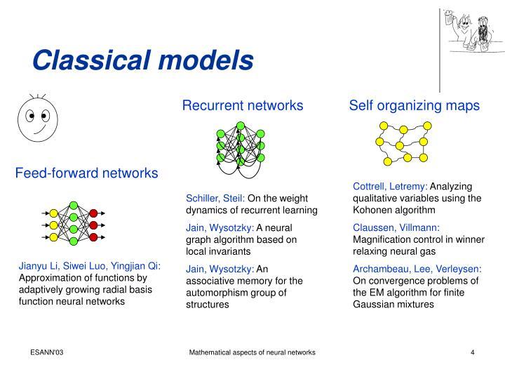 Classical models