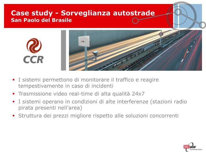 Case study - Sorveglianza autostrade