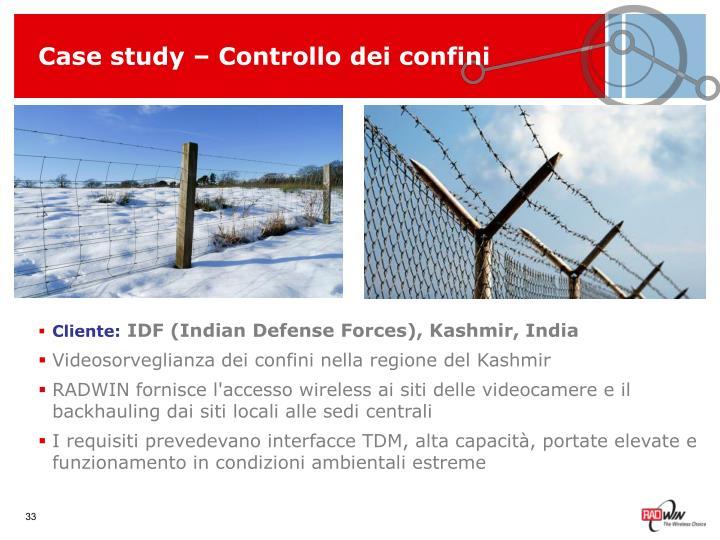Case study – Controllo dei confini