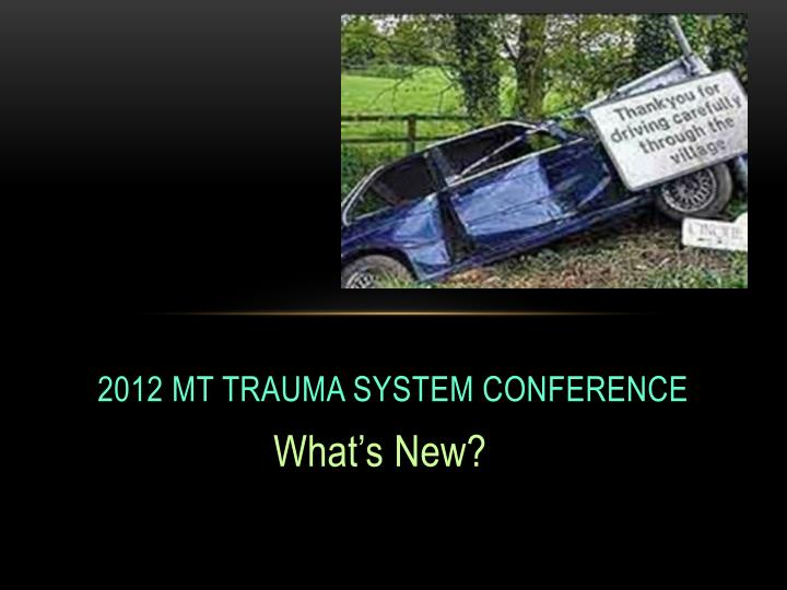 2012 mt trauma system conference
