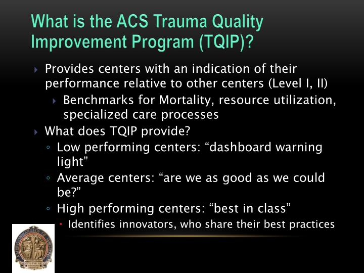What is the ACS Trauma Quality Improvement Program (TQIP)?