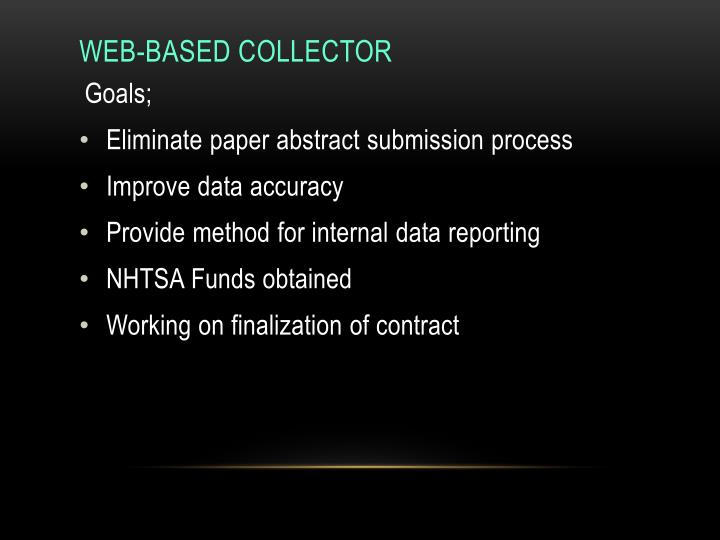 Web-Based Collector