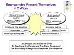 emergencies present themselves in 2 ways