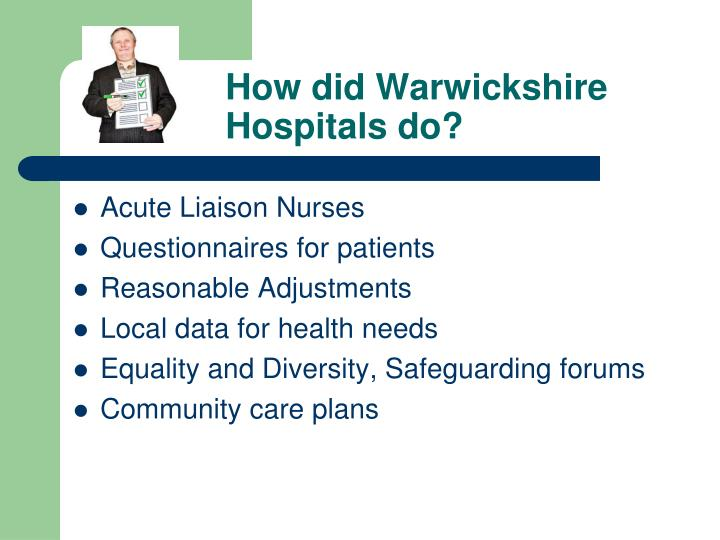 How did warwickshire hospitals do