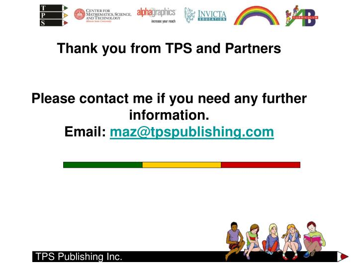 Thank you from TPS and Partners
